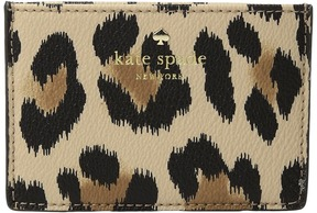 Kate Spade Hyde Lane Leopard Card Holder Wallet - CLASSIC CAMEL MULTI - STYLE
