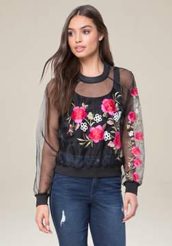 Bebe Embroidered Sweatshirt