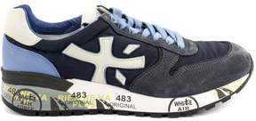 Premiata Mick Sneaker In Blue Suede Upper And Nylon