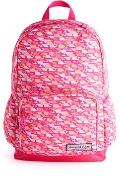 Vineyard Vines Girls Camo Whales Backpack