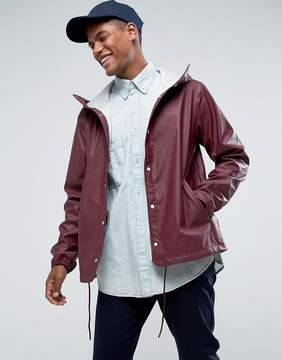 Herschel Forecast Hooded Coach Jacket Waterproof in Wine
