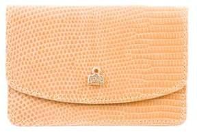 Judith Leiber Logo-Embellished Lizard Cardholder