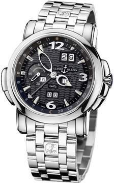 Ulysse Nardin GMT Perpetual Black Dial 18kt White Gold Men's Watch 320-60-8-62