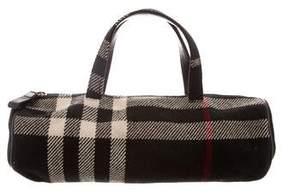 Burberry House Check Wool Handle Bag