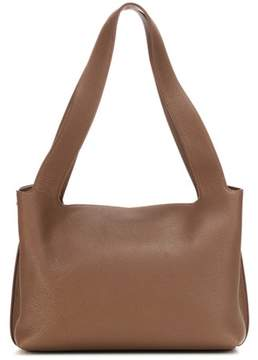 The Row Duplex Small leather shoulder bag