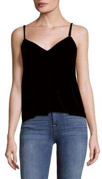 Saks Fifth Avenue BLACK Velvet Tank Top