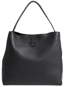 Tory Burch Mcgraw Leather Hobo - Black - BLACK - STYLE