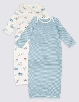 Marks and Spencer 2 Pack Pure Cotton All Over Print Bundlers