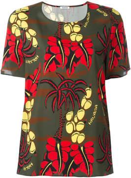 P.A.R.O.S.H. printed short-sleeve blouse