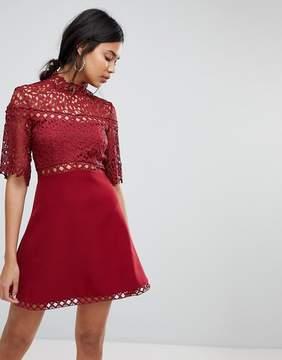 Keepsake Uplifted Lace Mini Dress