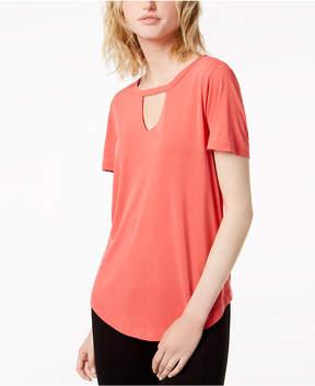 Bar III Choker T-Shirt, Created for Macy's