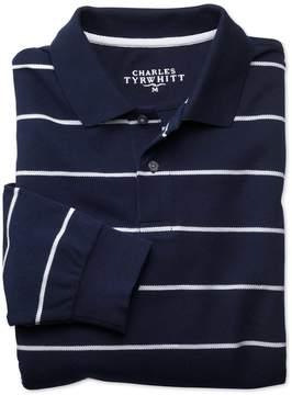 Charles Tyrwhitt Navy Cotton Pique Polos Size Small