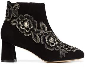Sophia Webster floral patch ankle boots