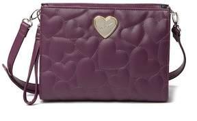 Betsey Johnson Heart Quilt Crossbody Bag