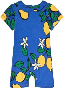 Mini Rodini Blue Lemon Sleeveless Onesie