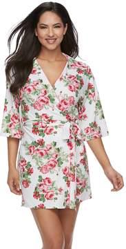 Flora Nikrooz Women's Floral Wrap Short Robe