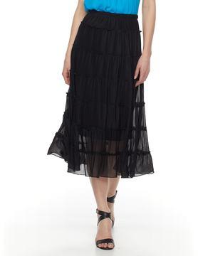 Dana Buchman Women's Tiered Midi Skirt