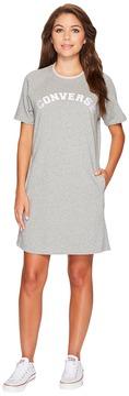 Converse Satin Trim Sweatshirt Dress Women's Dress