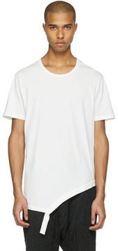 The Viridi-anne White Asymmetric T-Shirt