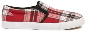 Forever 21 Tartan Plaid Slip-On Sneakers