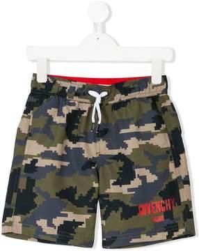 Givenchy Kids camouflage print swim shorts