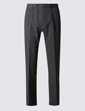 Marks and Spencer Regular Fit Flat Front Trousers