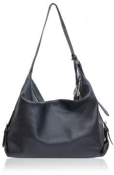 Amanda Wakeley Midi Costner Black Leather Hobo Bag