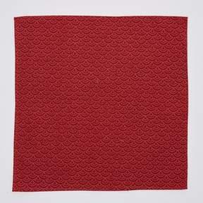 Blade + Blue Brick Red Japanese Wave Print Pocket Square