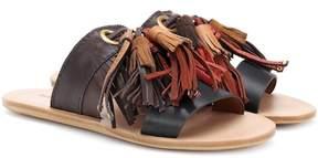 See by Chloe Tasselled leather slides