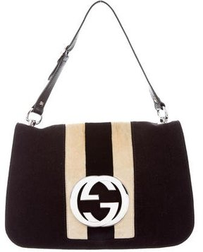 Gucci Interlocking GG Shoulder Bag - BLACK - STYLE