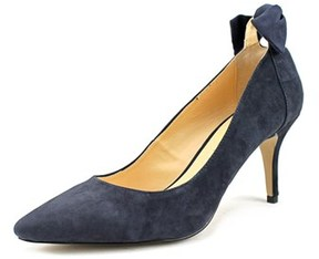 Sole Society Mabel Women Pointed Toe Suede Blue Heels.