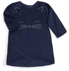Isabel Garreton Girl's Corduroy Cat Face Dress