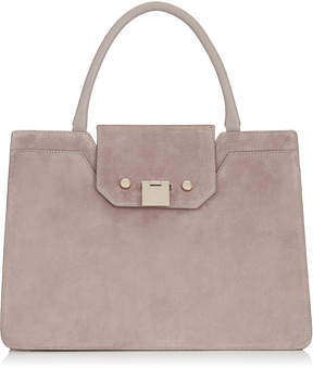 Jimmy Choo REBEL TOTE Opal Grey Suede Tote Bag