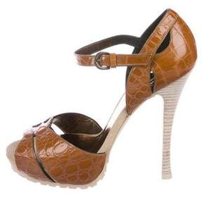 Barbara Bui Embossed Patent Leather Sandals w/ Tags