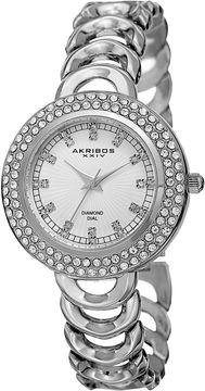 Akribos XXIV Unisex Silver Tone Bracelet Watch-A-804ss