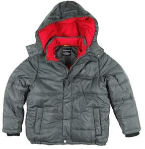 Calvin Klein Jeans Little Boys Gray Puffer Jacket Winter Ski Coat L