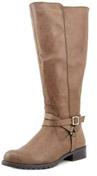 Style&Co. Style & Co Brigyte Wide Calf Women Round Toe Synthetic Brown Knee High Boot.