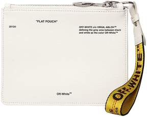 Off-White Flat Pouch Printed Leather Pouch