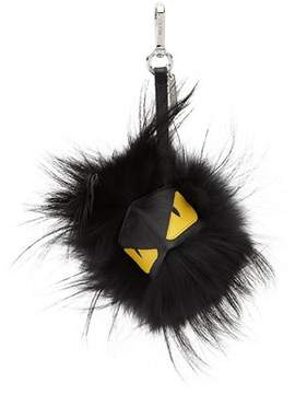 Fendi Men's Black Leather Key Chain.