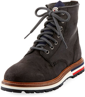 Moncler New Vancouver Leather Lace-Up Boot