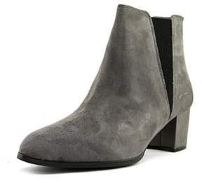 Alfani Womens Vitaa Suede Almond Toe Ankle Chelsea Boots.