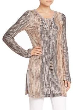 Calypso St. Barth Maviale Metallic Tunic Sweater