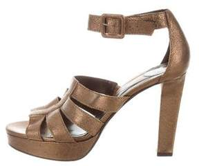 Diane von Furstenberg Leather Ankle Strap Sandals