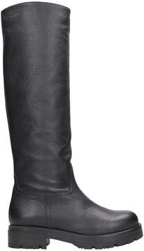 Julie Dee Black Leather Boots
