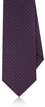 Isaia Men's Polka Dot Silk Necktie