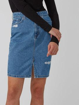 Frank and Oak Light-Wash Denim Pencil Skirt