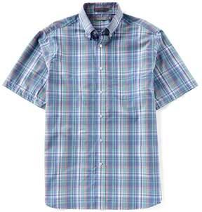 Daniel Cremieux Signature Heather Plaid Short-Sleeve Woven Shirt