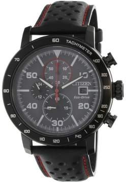 Citizen Men's Sport Eco-Drive CA0645-15H Black Leather Japanese Quartz Fashion Watch