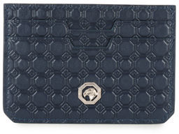 Stefano Ricci Stamped Leather Card Case