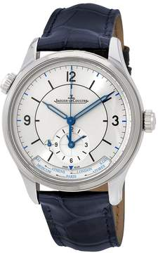 Jaeger-LeCoultre Jaeger Lecoultre Master Geographic Silver Dial Automatic Men's Alligator Leather Watch
